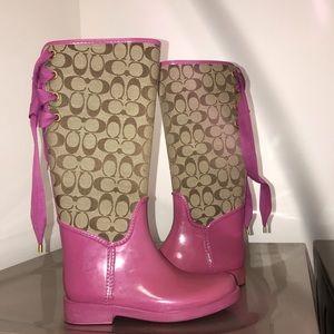 Coach rain boots used size 8.5